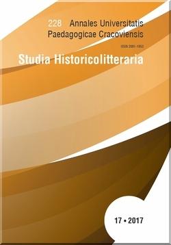 Annales Universitatis Paedagogicae Cracoviensis | Studia Historicolitteraria